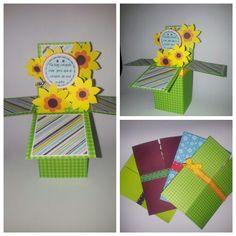 Card in a box o pop up box card para dia de las madres. Mother's day