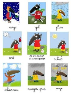 P tit Loup Wetter Collage Petite Section, Montessori, Nursery Bookshelf, Wolf, French Language Lessons, Autism Activities, Nursery School, 1st Day, Learn French