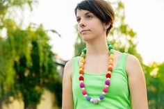 Multicolor necklace - Rainbow necklace - Colorful necklace on Etsy, $35.00