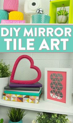 Birthday Gifts for Teenagers    Even if you're not looking for a stress reliever, maybe just a simple craft idea, this is still the perfect DIY teen craft project for you! Check out how we made thisDIY Mirror Tile Art.