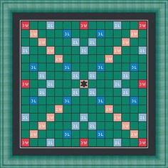 SCRABBLE GAME board- Counted cross stitch pattern /grille point de croix ,Cross Stitch PDF, Instant download