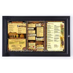 A creative way to display your restaurant 39 s menu outdoors diy projects pinterest menu for Exterior display case