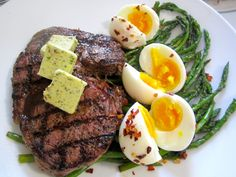Steak & Eggs.  See all pic's and recipe at : www.ChefsOpinion.org