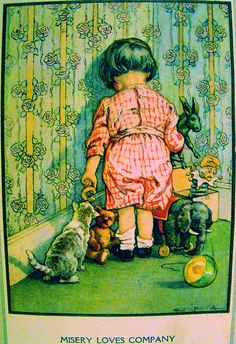 Misery loves company From Delightful Stories for Children, by Elizabeth Billings Stuart, 1920. Illustrated by C.M. Burd.