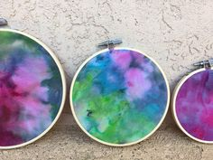 A personal favorite from my Etsy shop https://www.etsy.com/listing/476078724/ice-dye-wall-art-emboirdery-hoop-set-of