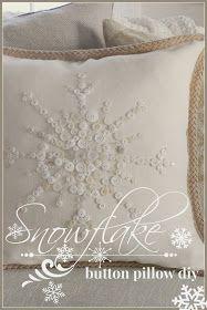 NO- SEW SNOWFLAKE BUTTON PILLOW, Saturday, January 4, 2014
