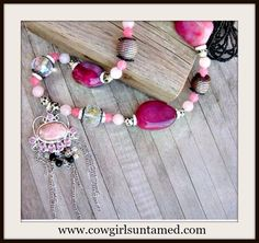 Bidding starts at ONLY $89.99!!! Similar necklaces sell as high as $399!  Visit the COWGIRLS UNTAMED EBAY CLEARANCE SHOP TODAY, and FIND FABULOUS FASHION at FABULOUS PRICES! #gemstonejewelry #925 #sterlingsilver #gemstone #silver #pink #western #southwestern #rocker #biker #boho #gypsy #longnecklace #necklace #jewelry #clearance #sale #save #discount #handmade