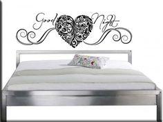 adesivo da parete letto good night