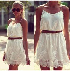 Fashion White Sexy Summer Women Ladies Lace Mini Party Evening Dress