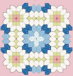 EPP project - Patchwork of the Crosses - Quilts (beginners)