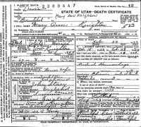 Mary Ann Stacey Knighton, Death Certificate, 1923