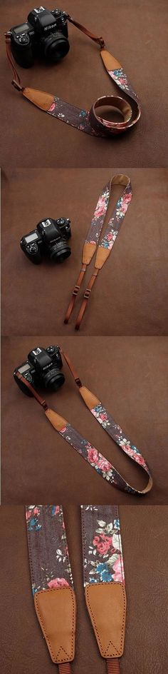Cowboy Flower Nikon /Cannon /Sony Handmade Leather Camera Strap Brown 7135 by i-cam