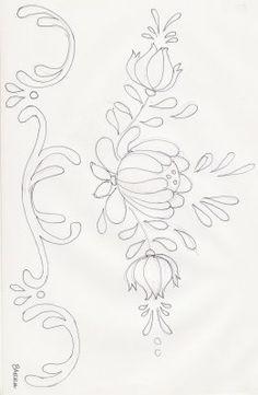 Bauernmalerei border pattern