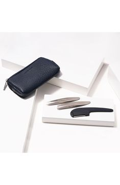"""Premium quality brow tools for precision grooming at home or on the go. These mini tweezers are designed with a wider body for a firm and stable grip while the touch up tool removes unwanted hair between brows. . Size: 2.08 oz.. Mini Flat Tip Tweezer: for thick brow hair. Mini Point Tweezer: for removing ingrown hairs. Mini Razor: great for cleaning up area between brows. 1.5"""" L x 2.54"""" W x 1.5"""" H. For directions, see """"Additional Info"""". Imported Tweezers: #LegHairRemoval Ingrown Hair Removal, Ingrown Hairs, Laser Hair Removal, Thick Brows, Hair Removal Methods, Unwanted Hair, Grooming Kit, Cleaning Wipes, Size 2"""