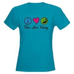Peace Love Fishing Women's Dark T-Shirt