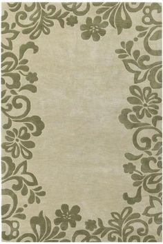 green and sage flourish rug
