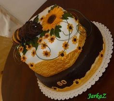 for beekeeper, cake with bee...