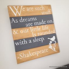 Shakespeare-Inspired Wood Plank Sign {Bedroom Décor} - using your Silhouette to make the Stencils
