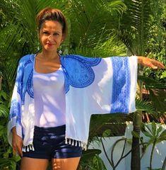 Mon kimono - Cré-a-stuces Kimono, Couture, Tie Dye, Creations, Tops, Women, Fashion, Moda, Fashion Styles