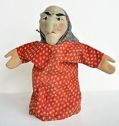 Vintage Kersa Witch - Vintage Kersa Witch Hand Puppet --- #Theaterkompass #Theater #Theatre #Puppen #Marionette #Handpuppen #Stockpuppen #Puppenspieler #Puppenspiel