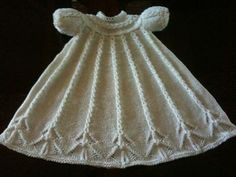 Cabled Yoke Christening Gown pattern by Judy Lamb
