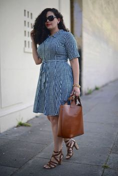 Blue Dress // Plus Size Fashion // Girl with Curves Plus Size Fashion For Summer, Summer Fashion Trends, Fashion Ideas, Fashion Quotes, Plus Size Dresses, Plus Size Outfits, Dresses For Work, Dress Work, Fall Dresses