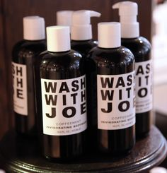 Wake up with coffee! Wash with Joe available in our Beauty Hall