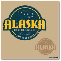03.03.2013 | Logo design for Alaska General Store by logopunk #alaska #astronomy #worn
