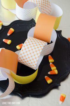 Candy Corn Paper Chain