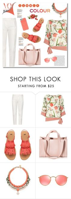 """summer colour"" by limass ❤ liked on Polyvore featuring Tod's, Billie & Blossom, Corto Moltedo, Ellen Conde, Ray-Ban, Casetify and Chanel"