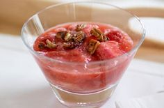 Honey and Rhubarb Compote