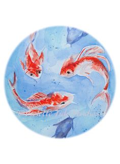Swimming Koi-nobori Giclée Print by VioletteTideStudios on Etsy. $25.00 for 9x12 and $30.00 for 11x14
