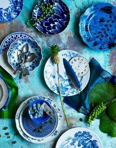 Blue and White dishes coming back? Image Via: Captain and the Gypsy Kid