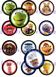 12 Precut EDIBLE MUPPETS / Cupcake Toppers / Cookie Toppers / Party Decorations Cake / Birthday / Boy / Girl /  Wafer Paper / Oreos. $6.25, via Etsy.