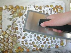 o passo 5 mosaico de vidro