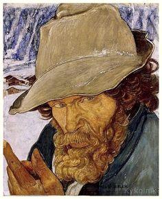 «Portrait of an Old Man» by Ernest Bieler (Swiss, 1863-1948)