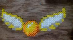 Golden Snitch - Harry Potter perler  beads  by GabeLopp