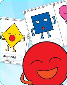 Learn the shapes with this song/activity. Download free shape cards too!