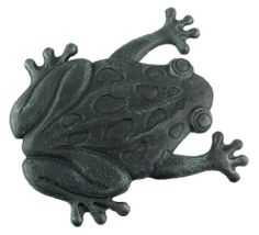 "Cast Iron Frog Stepping Stone Stones Home Decor Garden Art Wall by Things2Die4. $19.99. 12"" L x 13.5"" W. This frog stepping stone is designed to give your garden path a unique and delightful look. Add some rustic charm to your outdoor landscape with this beautiful frog stepping stone. This garden stepping stone is completely made from cast iron and molded to the shape of a frog. Perfect for any yard setting. What a Unique way to create a pathway in your yard or gar..."