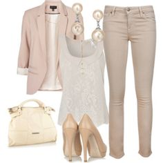 I like this color combo and the romantic shirt
