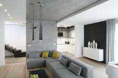 Szare wnętrze. Zobacz nowoczesny dom  - zdjęcie numer 1