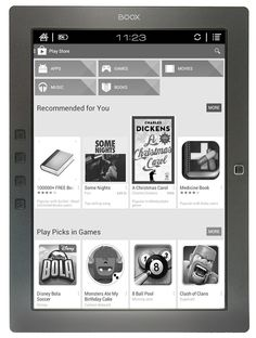 Onyx Boox M96 ereader, 9.7 inch E ink display. Apps from Google Play app store are compatible.