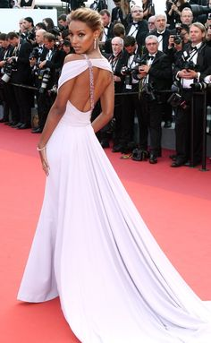 Cannes Film Festival 2017 Best Dresses from the Back - Jasmine Tookes in Georges Chakra