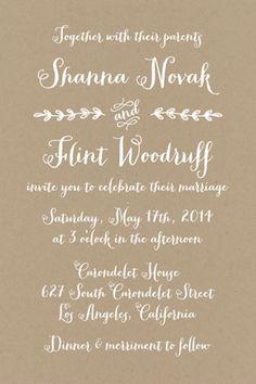 wedding invitation from Love vs. Design