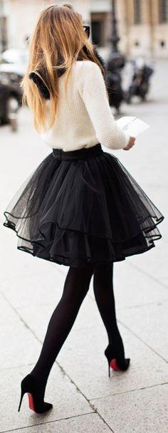 :: Tulle Skirt & Louboutin ::
