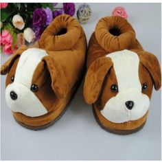 $21.49  Cute Cartoon Adult Womens Plush Dog Slippers