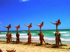 beach cheerleaders