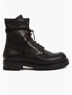 Rick Owens Men's Black Leather Army Boots Sneaker Boots, Bootie Boots, Me Too Shoes, Men's Shoes, Leather Boots, Black Leather, Rick Owens Men, Fashion Shoes, Mens Fashion