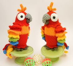 Mesmerizing Crochet an Amigurumi Rabbit Ideas. Lovely Crochet an Amigurumi Rabbit Ideas. Crochet Parrot, Crochet Birds, Cute Crochet, Crochet Animals, Beautiful Crochet, Crochet Crafts, Yarn Crafts, Crochet Baby, Crochet Projects