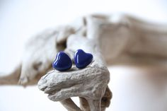 Little Heart Shaped Studs Ceramic by SilverburnStudios on Etsy, €10.00